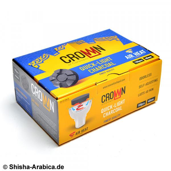 CarboPol Crown Shisha Kohle 40mm 100er Box