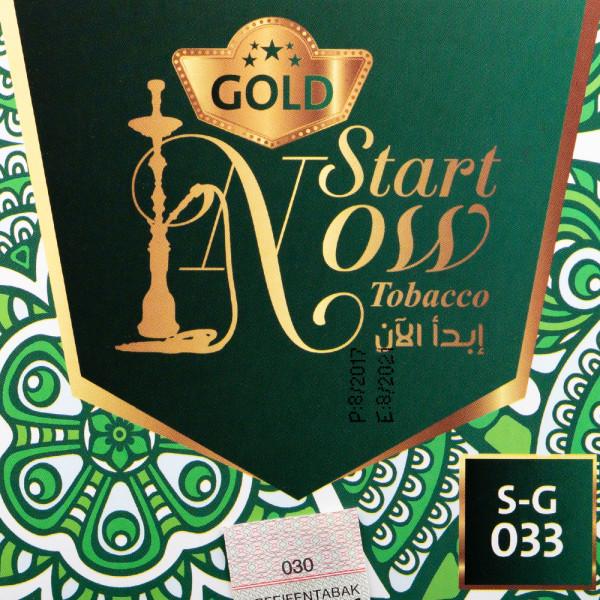 Start Now Gold - Green M Fresh 200g Tabak