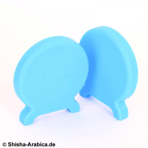 KS T-ONE Silikon Seitendeckel Set Glow Blau