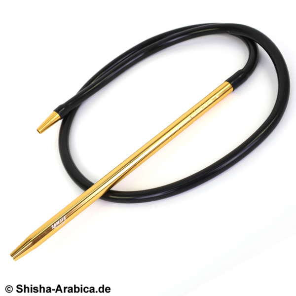 Samaya Alu Long + Silikon Schlauch Set Schwarz Gold