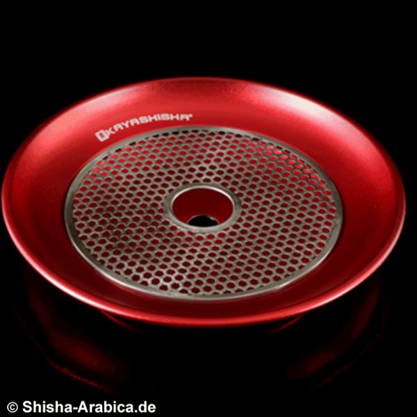 Kaya Aluminiumteller mit Kohlengitter Rot