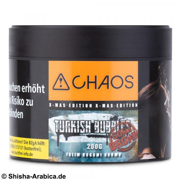 CHAOS Tobacco - Turkish Bubbles Code Brown 200g Tabak