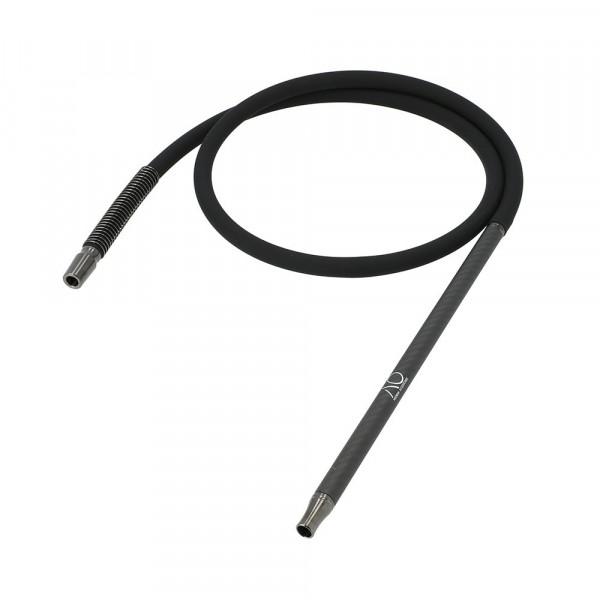 AO Schlauchset Carbon Gun Metal Matt Black 18/8