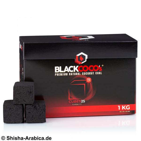 BlackCoco's Cubes25 Naturkohle 1kg