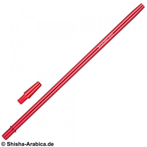 Goldhofer Alu Mundstück + Schlauchadapter Red