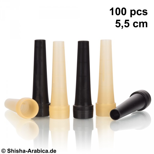Hygienemundstücke 100 pcs 5,5cm Black/Gold