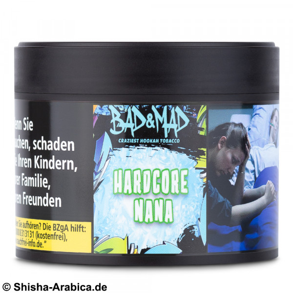 Bad & Mad Tobacco - Hardcore Nana 200g Tabak