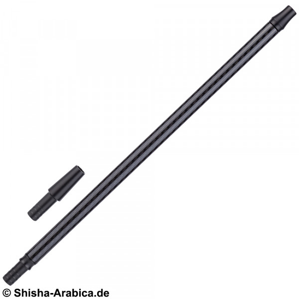 Alu-Carbonmundstück + Endstück Black