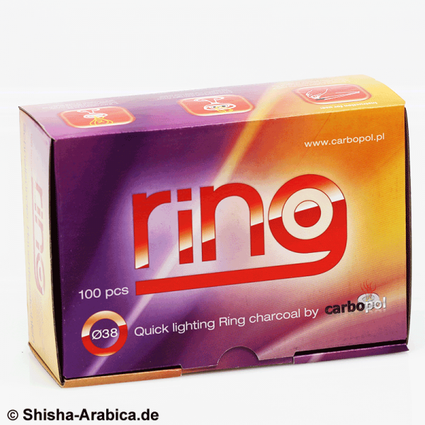 Carbopol Ring Shisha Kohle 38mm Box