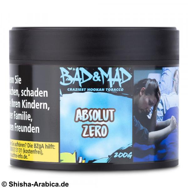 Bad & Mad Tobacco - Absolut Zero 200g Tabak