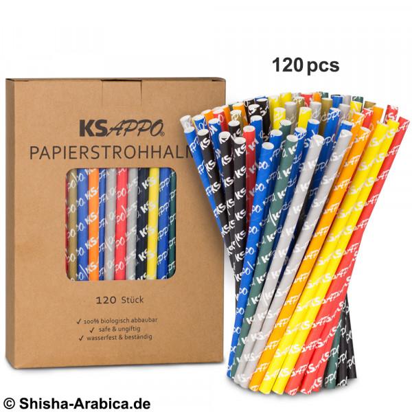 KS Papierstrohhalme 120 pcs