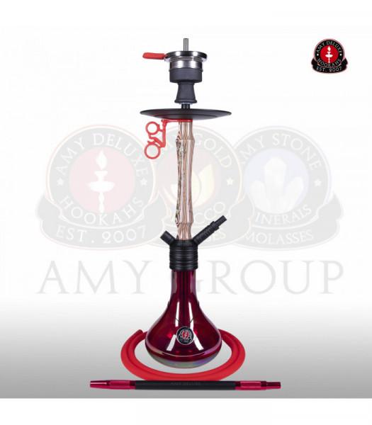 Amy 117.01 Jungle Storm Red Shisha (Matt schwarze Säule)