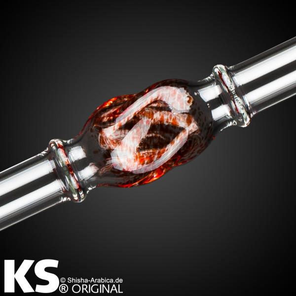 "KS Glas Stickliner ""Minea"" Red 45cm"