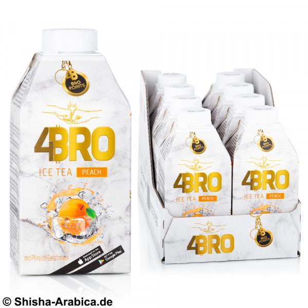 4BRO Ice Tea - Peach - 8 x 500ml