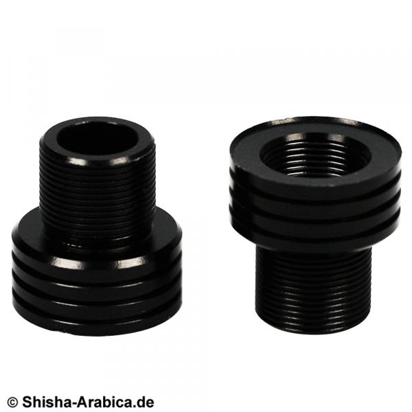 PNX Glasrauchsäulen Adapter 2er-Set Schwarz