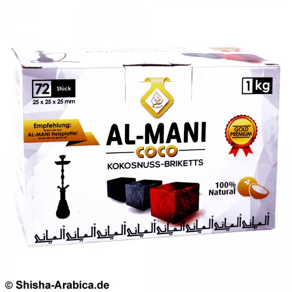 Al-Mani Coco Naturkohle 1kg