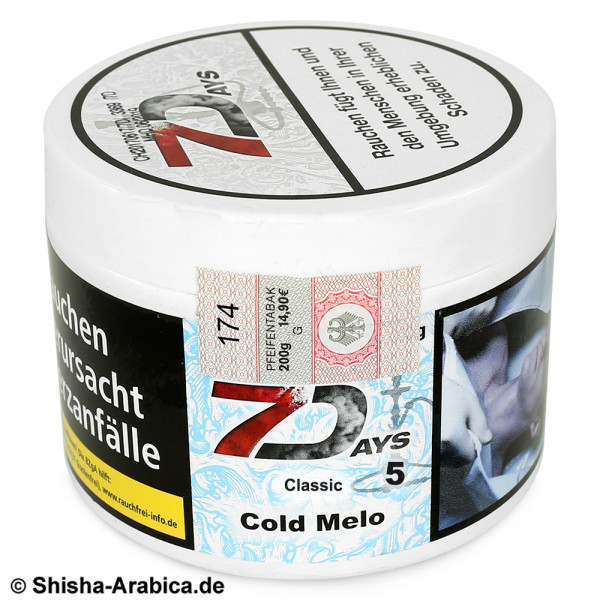 7 Days Classic - Cold Melo #5 200g Tabak