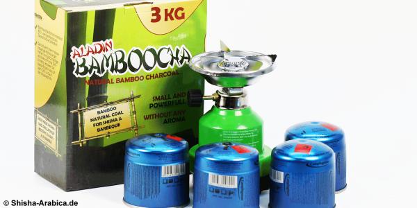 Gaskocher Set III inkl. 3kg Bamboocha