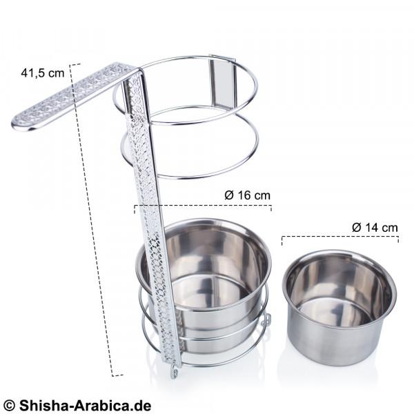 Diamond Shisha Kohlenbehälter Dual